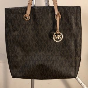 Michael Kors Brown Signature Leather Handbag
